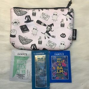 Ipsy X Valfre Halloween zipper pouch & Samples